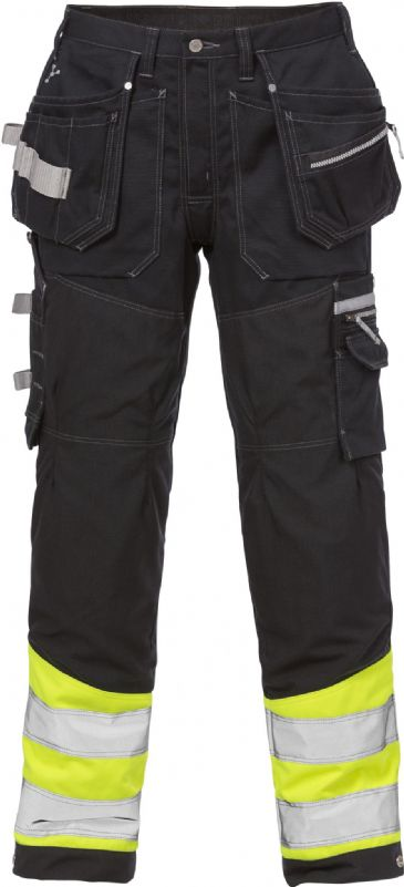 Fristads High Vis Gen Y Craftsman Trousers CL 1 2127 CYD (High Vis Yellow/Black)
